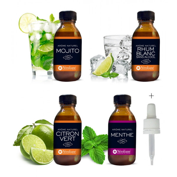 Coffret cocktail : Mojito Express ou Virgin Morito (sans alcool)