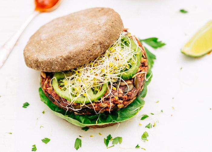 Burger végétarien sans gluten à l'arôme Basilic